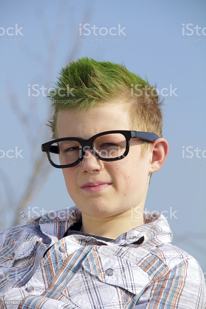 unique boy stock photo