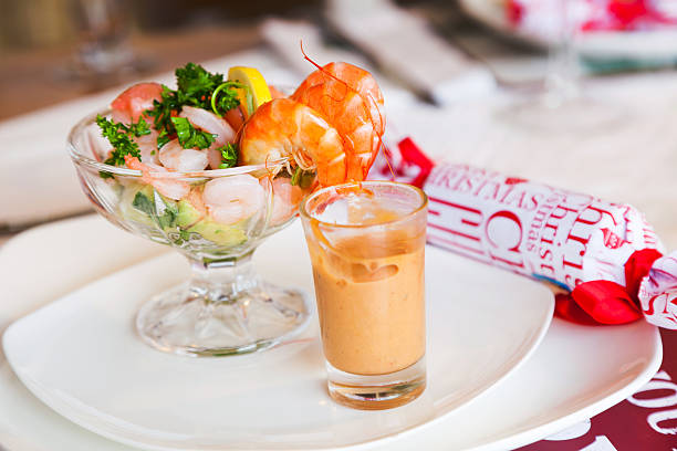 Einzigartigen Weihnachts-shrimp-cocktail-Hauptgericht – Foto