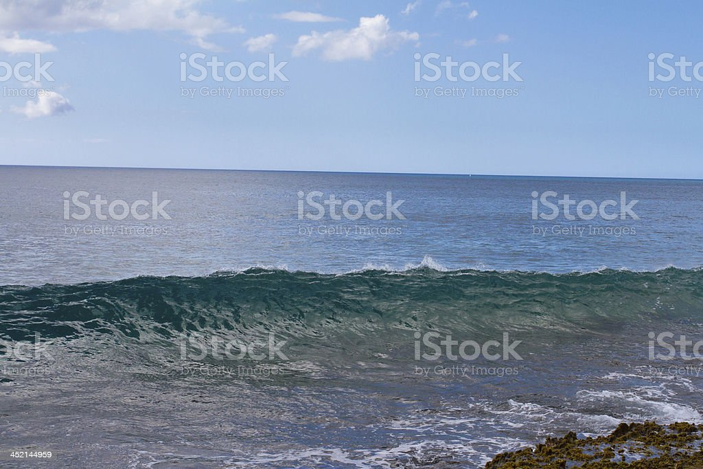 Unique Clear Waves in Hawaii royalty-free stock photo