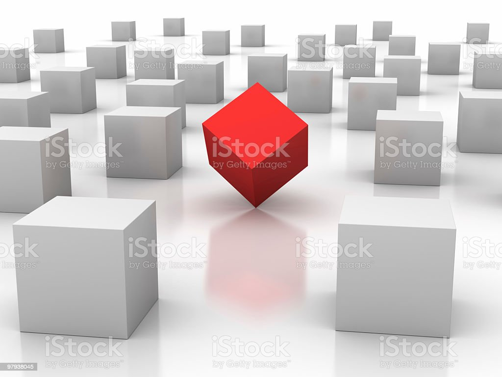 Unique cube royalty-free stock photo