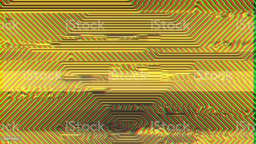 Unique Design Abstract Colorful Noise Glitch Video Damage stock photo