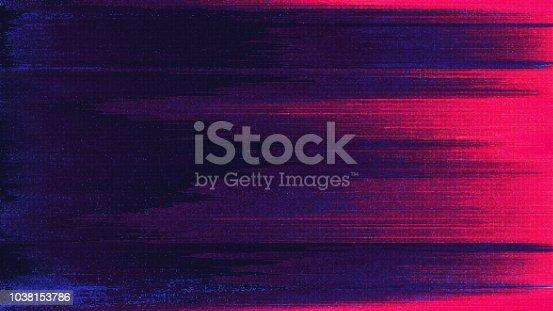 istock Unique Design Abstract Digital Pixel Noise Glitch Error Video Damage 1038153786