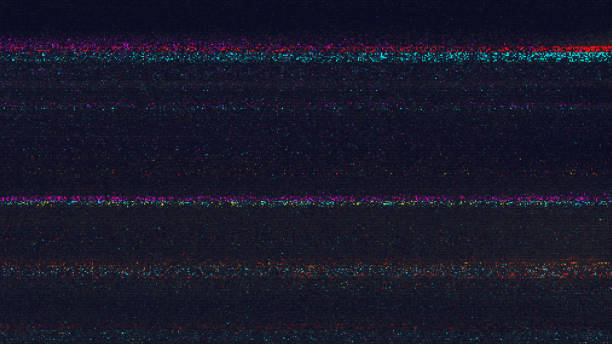 unique design abstract digital pixel noise glitch error video damage - music style stock pictures, royalty-free photos & images