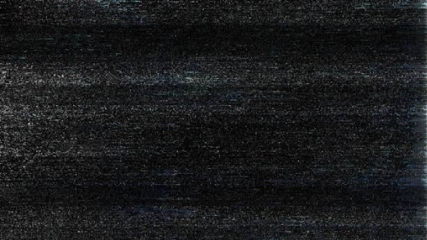 unique design abstract digital pixel noise glitch error video damage - televisão estática imagens e fotografias de stock