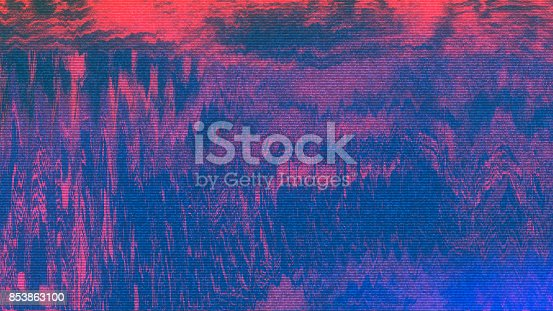 istock Unique Design Abstract Digital Pixel Noise Glitch Error Video Damage 853863100