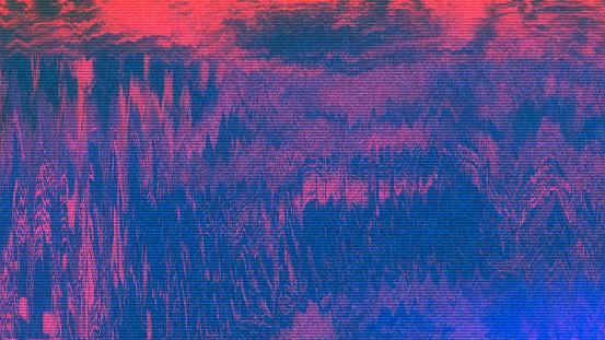 istock Unique Design Abstract Digital Pixel Noise Glitch Error Video Damage 853863100