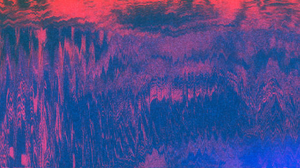 Unique Design Abstract Digital Pixel Noise Glitch Error Video Damage stock photo