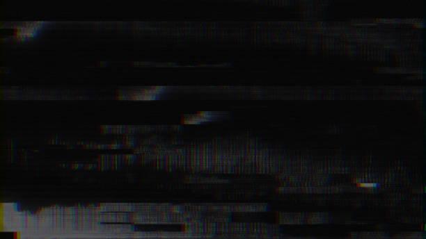 Unique Design Abstract Digital Pixel Noise Glitch Error Video Damage stock photo