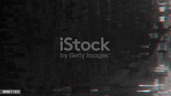 890862784istockphoto Unique Design Abstract Digital Pixel Noise Glitch Error Video Damage 868611302