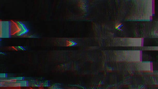 unique design abstract digital pixel noise glitch error video damage - problemi foto e immagini stock