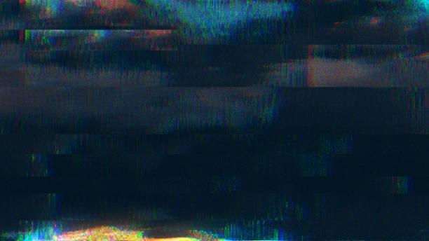 diseño único pixel digital abstracto ruido falla error video daño - video modelo fotografías e imágenes de stock