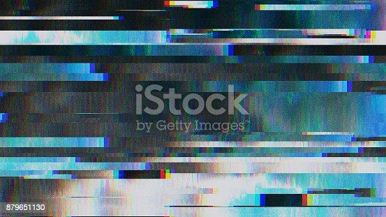 890862784istockphoto Unique Design Abstract Digital Pixel Noise Glitch Error Video Damage 879651130