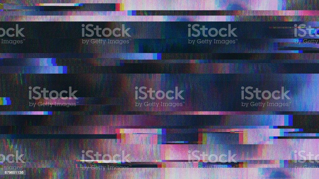 Einzigartiges Design abstrakte digitale Pixel Rauschen Glitch Fehler Video Schaden Lizenzfreies stock-foto
