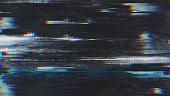 ユニークなデザインの抽象デジタル ピクセル ノイズ不具合エラーのビデオ損傷