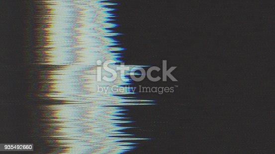 890862784istockphoto Unique Design Abstract Digital Pixel Noise Glitch Error Video Damage 935492660