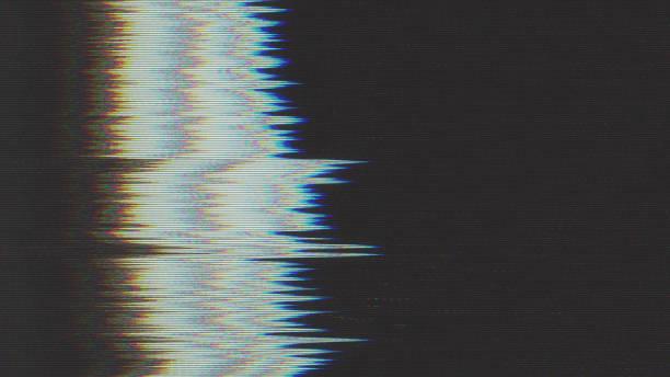 diseño único pixel digital abstracto ruido falla error video daño - distorsionado fotografías e imágenes de stock