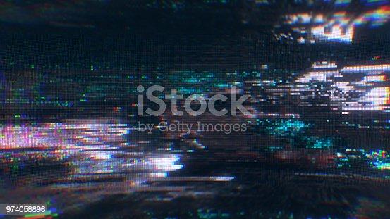 890862784istockphoto Unique Design Abstract Digital Pixel Noise Glitch Error Video Damage 974058896