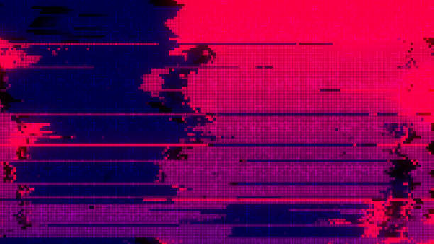 unique design abstract digital pixel noise glitch error video damage - problems stock pictures, royalty-free photos & images