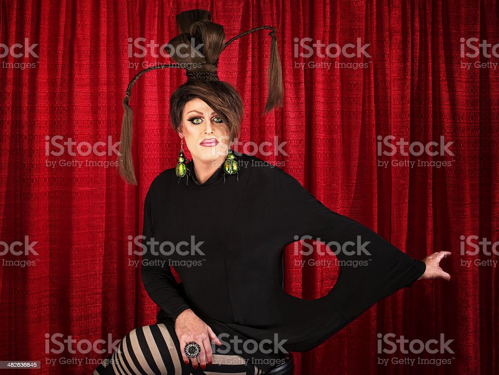 Unique Drag Queen Sitting royalty-free stock photo