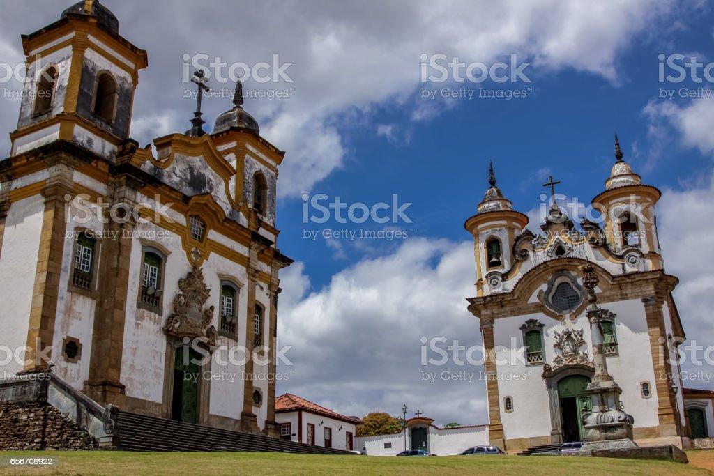 Unique ensemble of baroque churches Igreja de Sao Francisco de Assis and Santuario de Nossa Senhora do Carmo – Foto