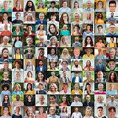 istock 100 Unique Faces Collage 1291584234