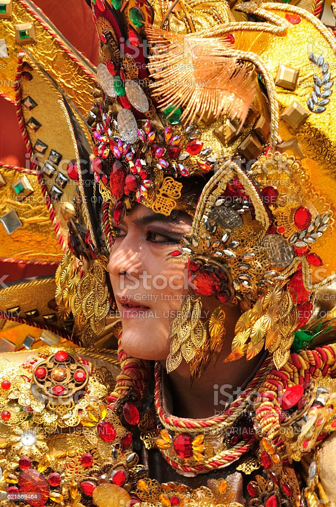 Unique Fashion Custume CloseUp Frame foto stock royalty-free
