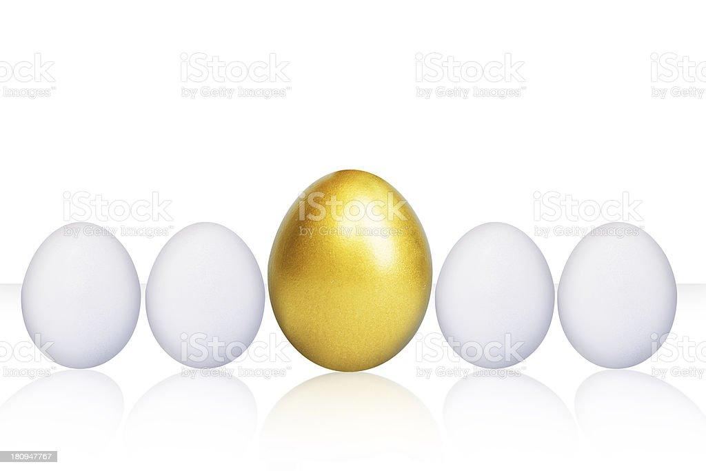Unique golden egg royalty-free stock photo