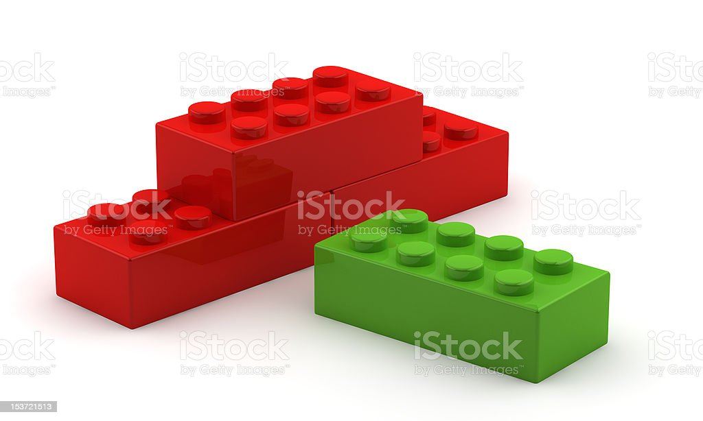 Unique green plastic cube royalty-free stock photo