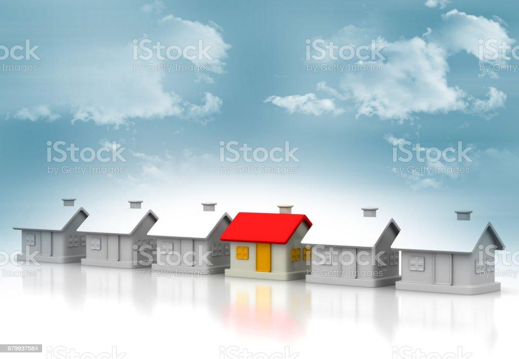 Unique house stock photo