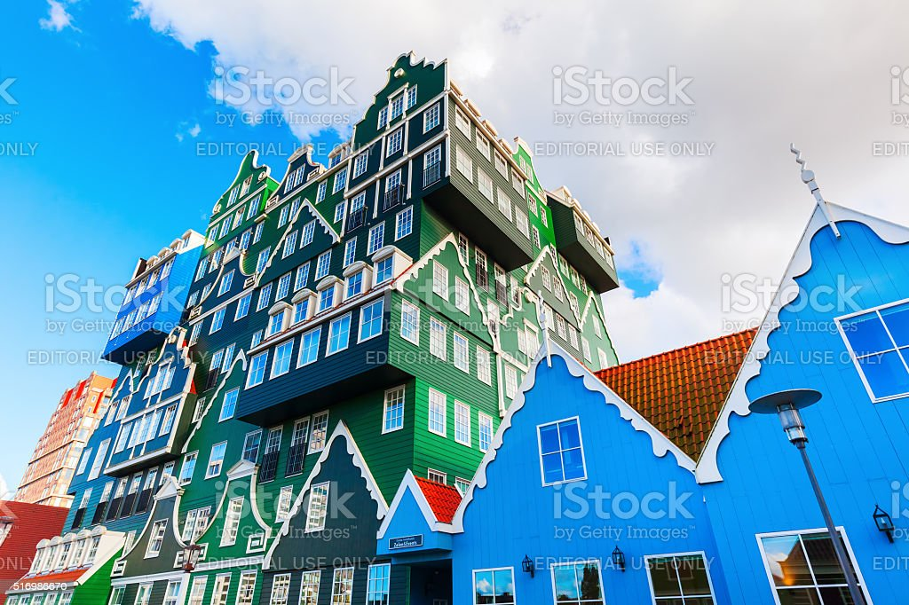 unique Inntel Hotel in Zaandam, Netherlands stock photo