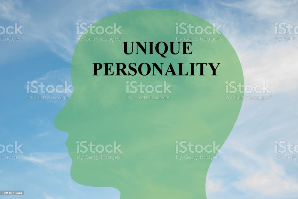 Unique Personality mentality concept stock photo