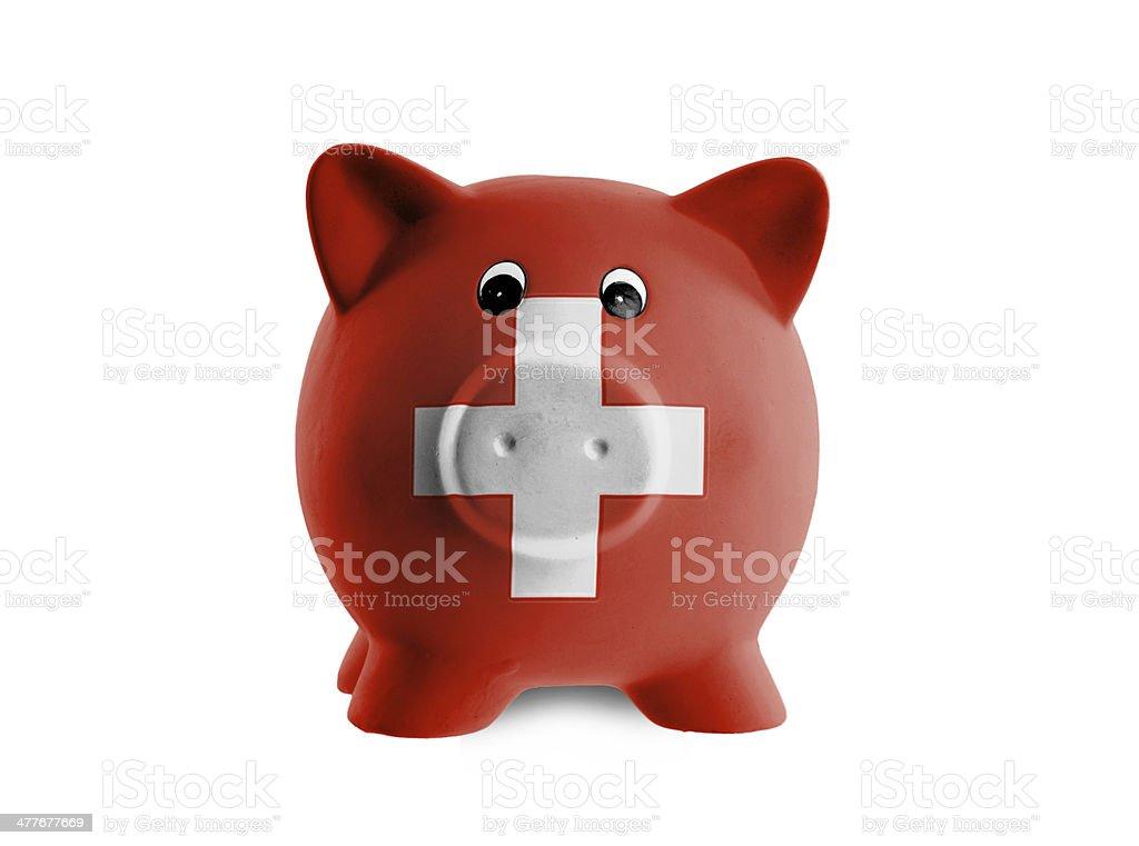 Unique pink ceramic piggy bank royalty-free stock photo