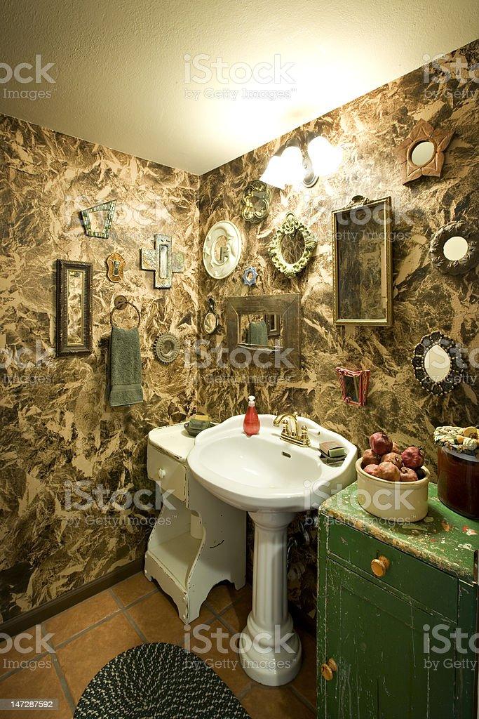 Unique Powder Room stock photo