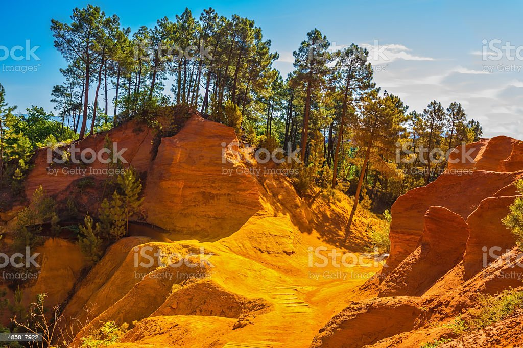 Unique red and orange hills stock photo