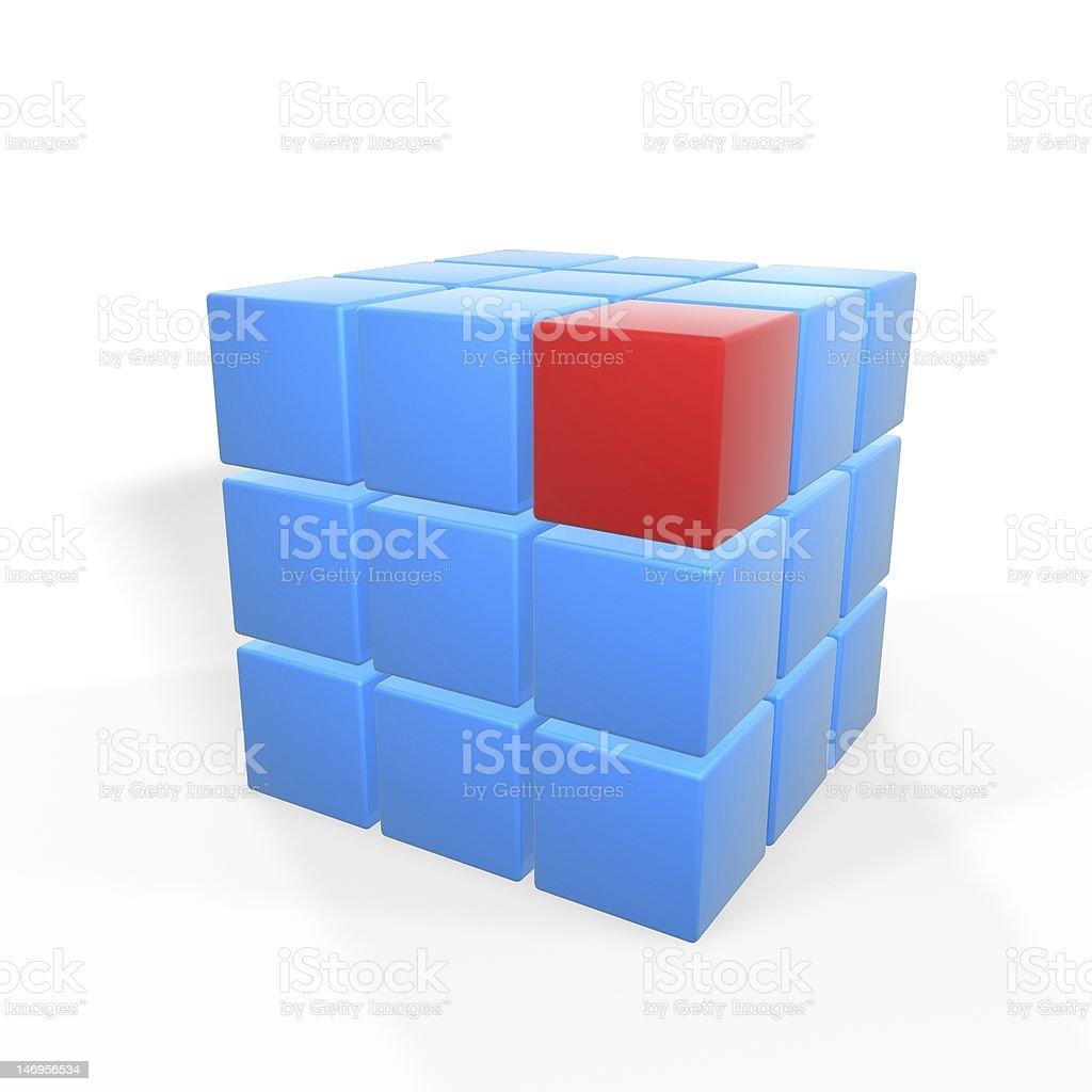 unique red block stock photo