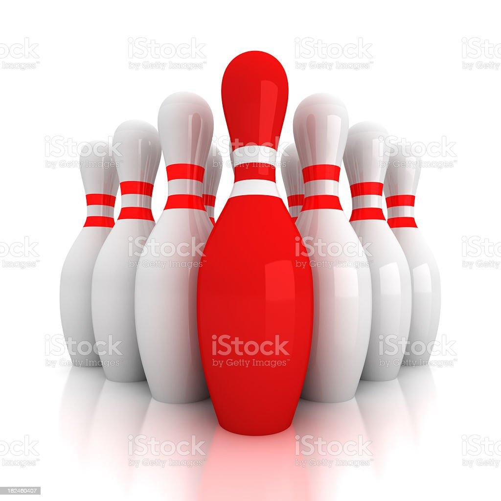 Bolos skittle único rojo foto de stock libre de derechos