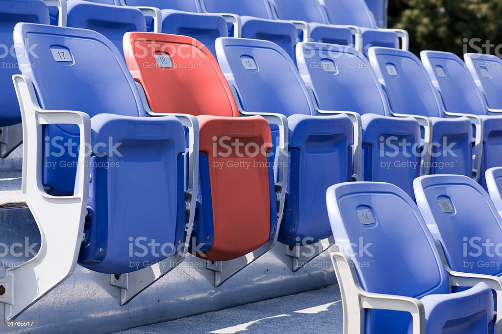 Unique Stadium Seating royalty-free stock photo