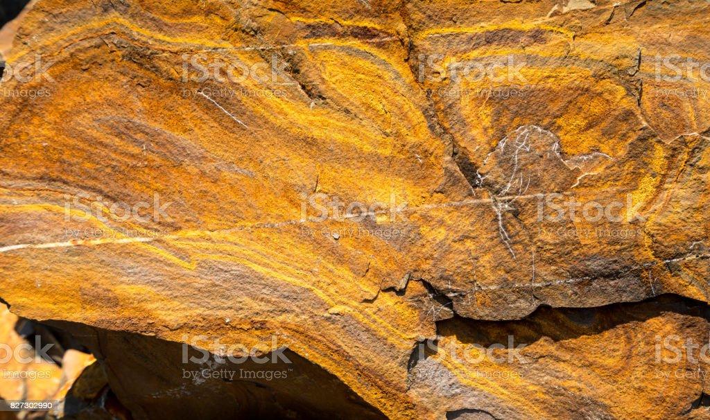 Unique structure of rocks at Hartland Quay in North Devon stock photo