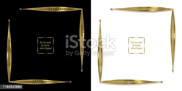 istock Unique Three Dimensional Text Dividers, Corners, Frames, Borders and Decorative Design Elements Series. Can be used as frame when flipped. 1164542684