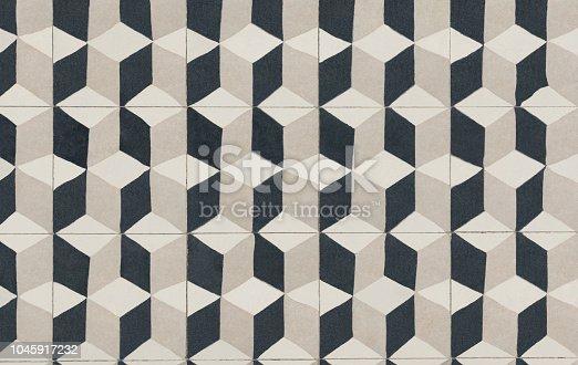istock Unique tile design, Islam patterns, Escher like repetition tiled floor 1045917232