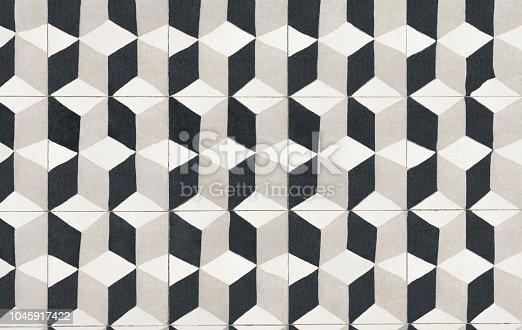 istock Unique tile design, Islam patterns, Escher like repetition tiled floor 1045917422