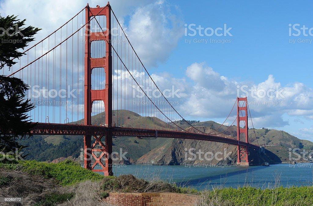 Unique View Of Golden Gate Bridge royalty-free stock photo