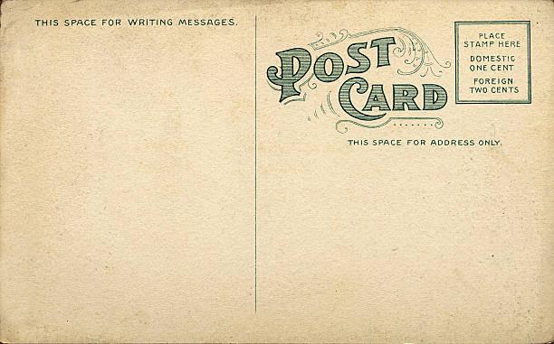 Unique Vintage Blank Postcard stock photo