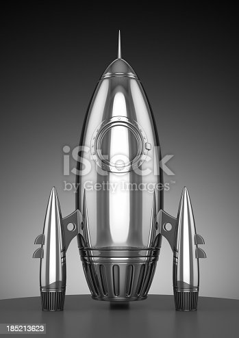 3D render of rocket model.