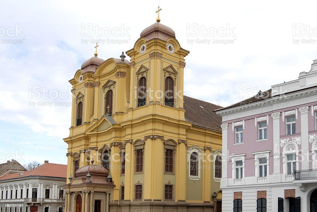 Unirii's square, Timisoara, Romania royalty-free stock photo