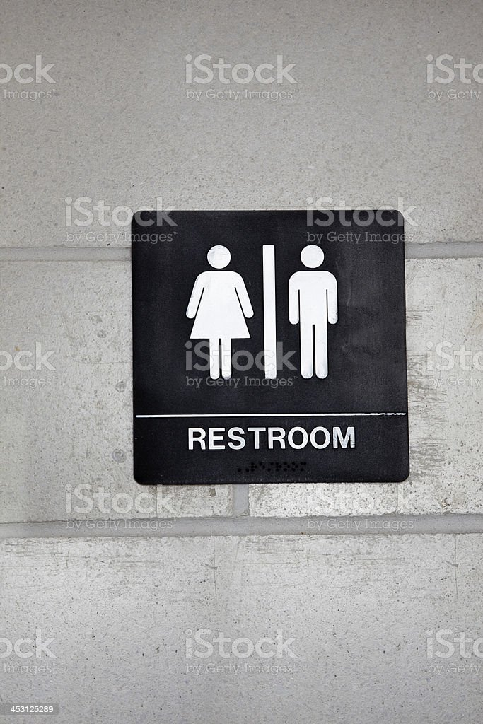Unisex restroom stock photo