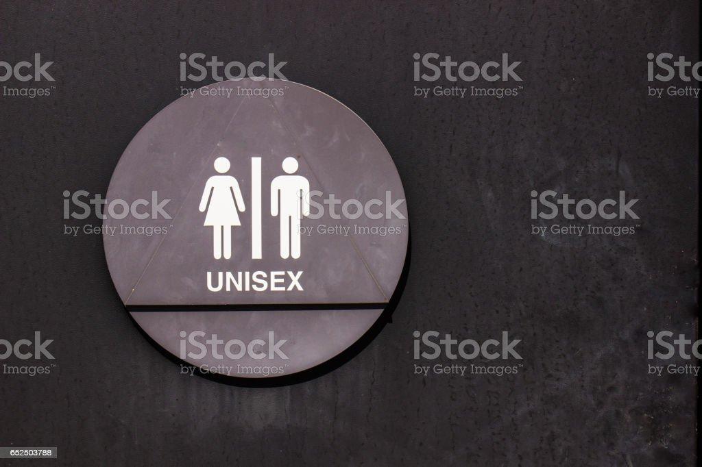 Unisex Restroom Sign stock photo
