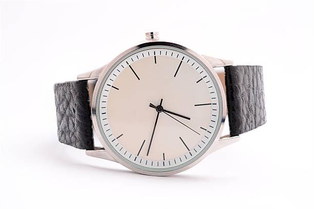 unisex watches on a white background - reloj de pulsera fotografías e imágenes de stock