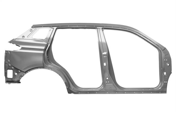 Uniside panel of a car body on a white background stock photo