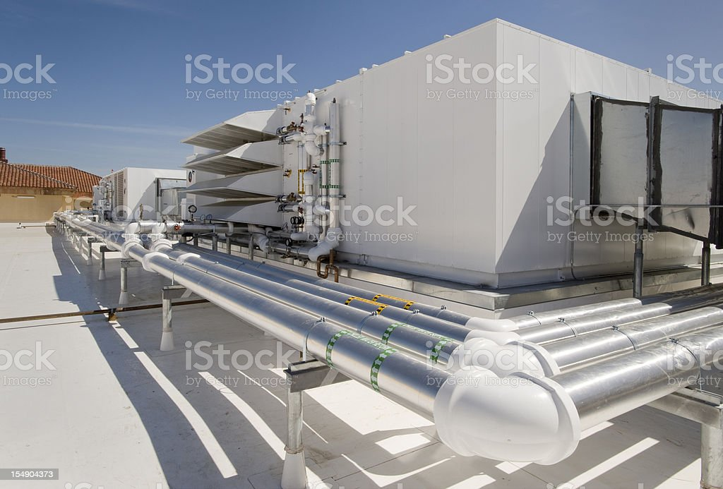 HVAC Unit for Large Building royalty-free stock photo